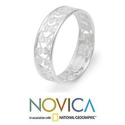 Sterling Silver 'Royal Filigree' Ring (Peru)