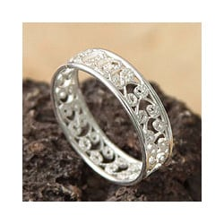 Sterling Silver 'Royal Filigree' Ring (Peru)