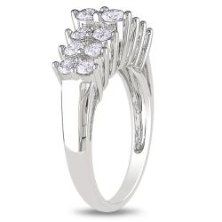 Miadora 10k White Gold 1ct TDW Diamond Ring (H-I, I2-I3)