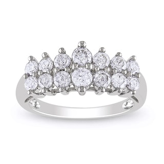 Miadora 10k White Gold 1ct TDW Round-cut Diamond Ring (H-I, I2-I3)