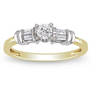 Miadora 10k Gold 1/3ct TDW Diamond Engagement Ring (H-I, I2-I3)