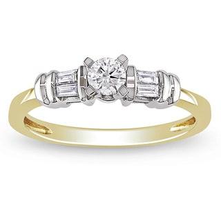 Miadora 10k Gold 1/3ct TDW Diamond Engagement Ring (H-I, I2-I3)