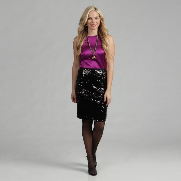 Calvin Klein Women's Sequin Pencil Skirt