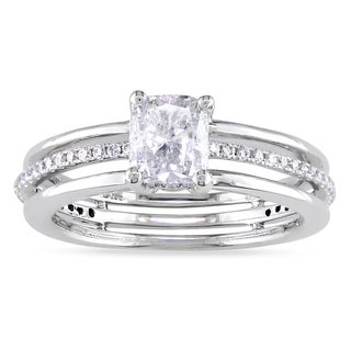Miadora 14k White Gold 1 1/4ct TDW Diamond Engagement Ring (F-G, I1-I2)