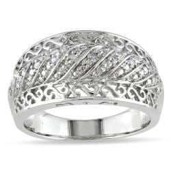 M by Miadora Sterling Silver Diamond Accent Design Ring