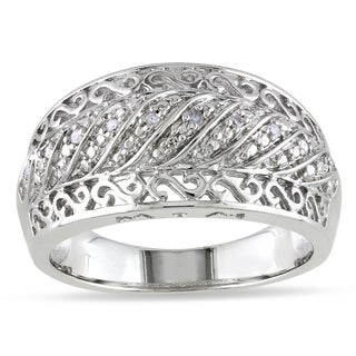 M by Miadora Sterling Silver Diamond Accent Design Ring