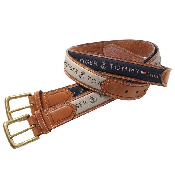 Tommy Hilfiger Men's Topstitched Leather Belt