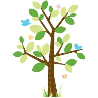 RoomMates Dotted Tree Peel and Stick Wall Decals - Multi