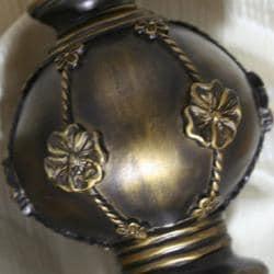 Lewis Elegance Oil Brown Adjustable Curtain Rod Set