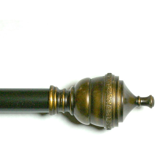 Lewis Royal Oil Brown Adjustable Curtain Rod Set