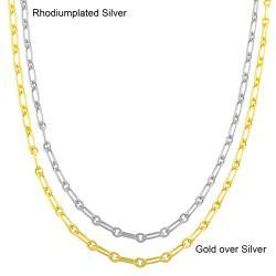 Fremada Sterling Silver 18-inch Polished Alternate Link Chain