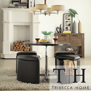 TRIBECCA HOME Bingley Adjustable Space Saver 5-piece Cocktail Dining Set