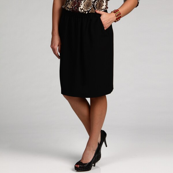 Chaus Women's Black Angle Pocket Skirt FINAL SALE