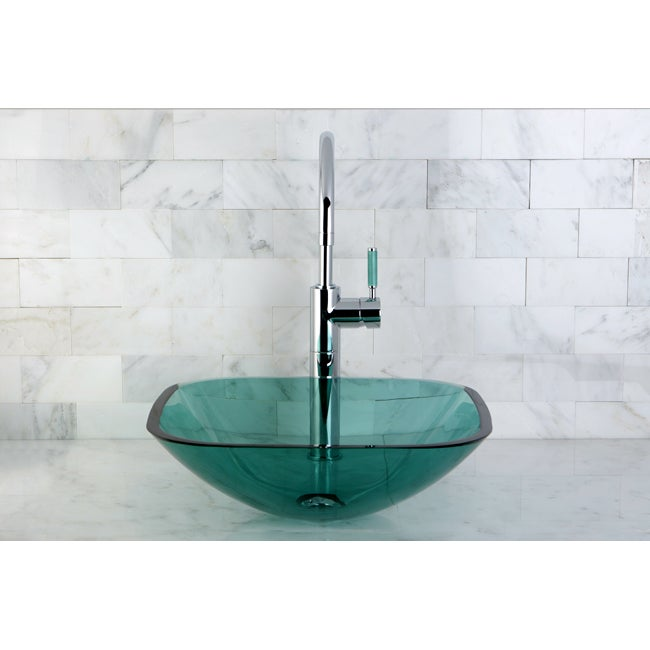 Square Green Vessel Sink