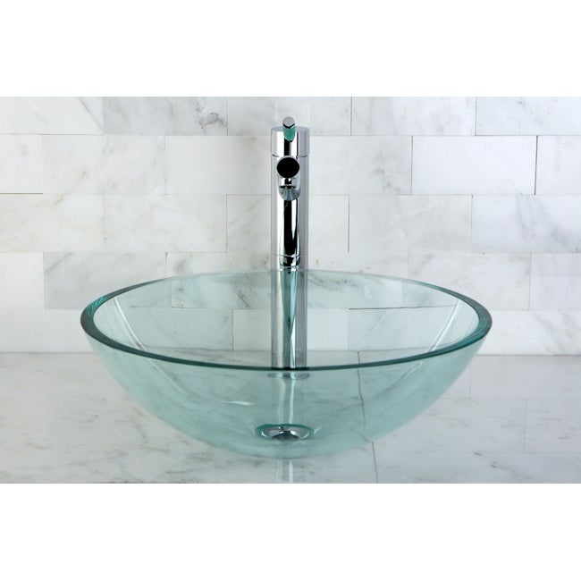 Sink Glass : Crystal Clear Glass Vessel Sink - 14223444 - Overstock.com Shopping ...