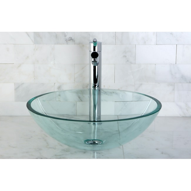 Glass Vessel Bowls : Crystal Clear Glass Vessel Sink - 14223444 - Overstock.com Shopping ...
