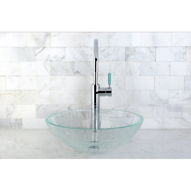 Crystal Glacier Vessel Sink