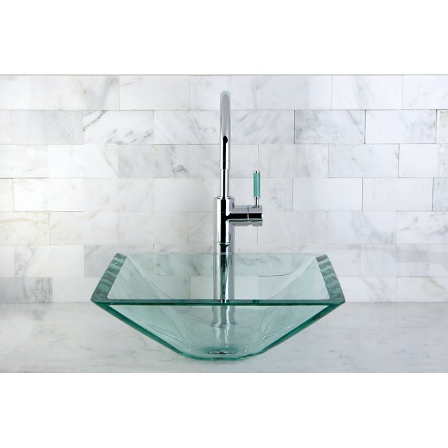 Square Tempered Glass Vessel Sink
