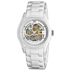 Emporio Armani 'Ceramic' Men's Skeleton Dial Watch