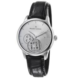 Maurice Lacroix Men's MP7158-SS001-901 'MasterPiece' Silver Dial Power Reserve Watch