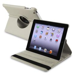 Grey 360-degree Swivel Leather Case for Apple iPad 2/ 3