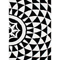 Hand-Tufted 'Floridly' Geometric Black Wool Rug (8' x 10')
