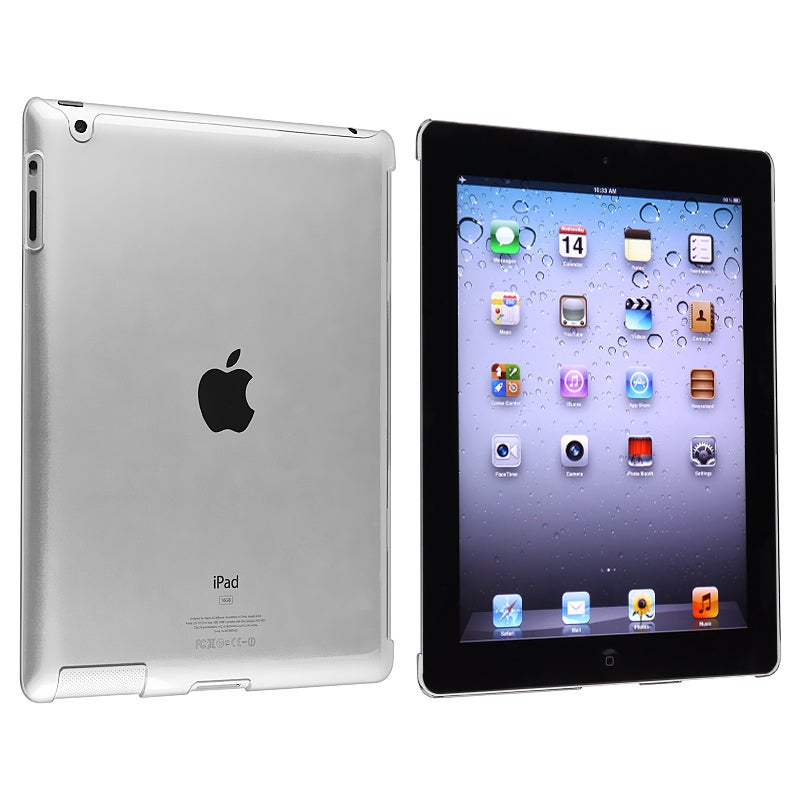INSTEN Clear Snap-on Crystal Tablet Case Cover for Apple iPad 3/ 4