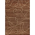 Metro Hand-made Chocolate Brown Area Rug (6' x 9')