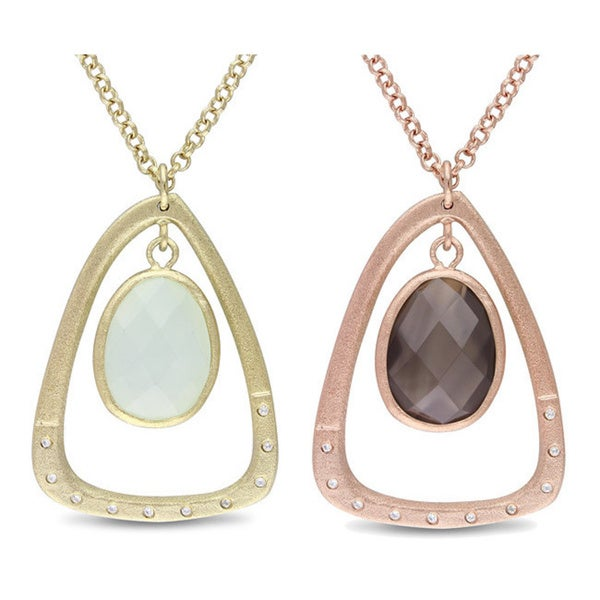 M by Miadora Goldplated Gemstone and Cubic Zirconia 34-inch Necklace