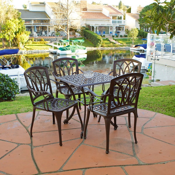 Christopher Knight Home Dunbar 5-piece Cast Aluminum Outdoor Dining Set