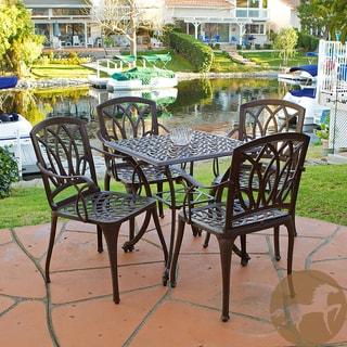 Christopher Knight Home Dunbar 5-piece Cast Aluminum Outdoor Dining Set