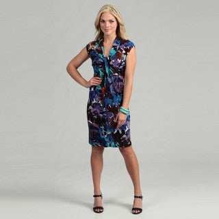 London Times Women's Floral Jersey Dress