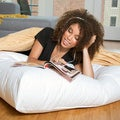 Giant 36-inch Floor Cushion Down and Feather Pillow