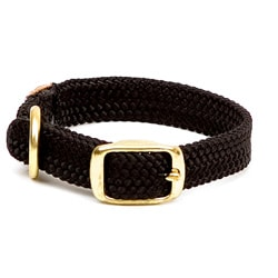 Double-Braided Junior Black Pet Collar