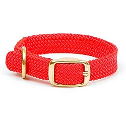 Double-Braided Junior Red Pet Collar