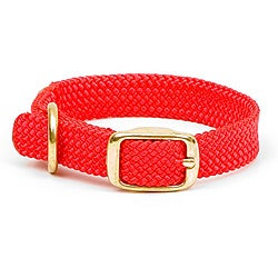 Double-Braided Junior Red Pet Collar with Buckle