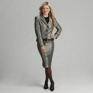 Danillo Women's Notch Color Novelty Suit w/Lace Trim Jacket