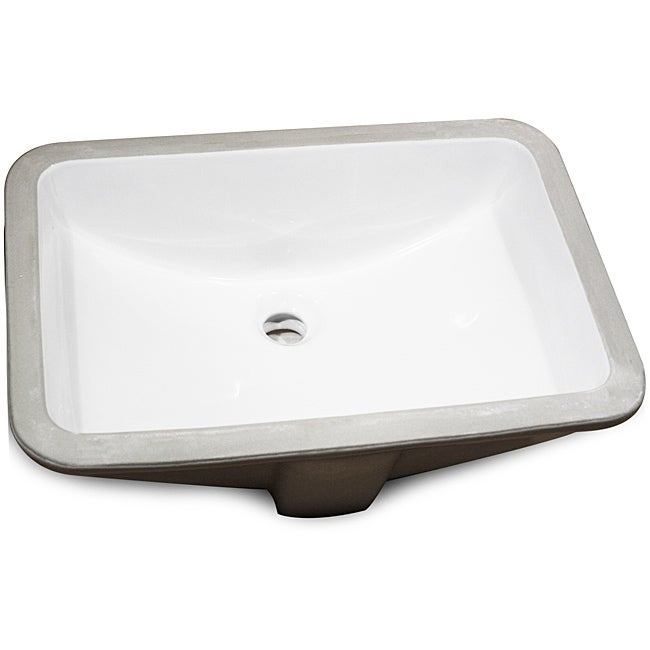 Rectangle Undermount Ceramic Bowl