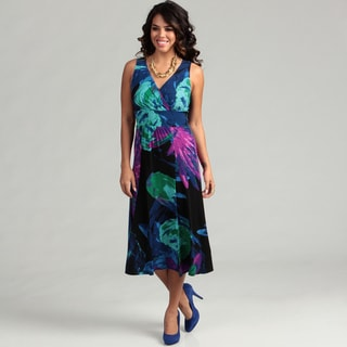 London Times Women's Sleeveless Dress