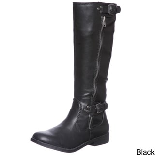 Report Women's Hanna Buckle Detail Riding Boots
