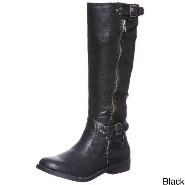 Report Women's Hanna Buckle Detail Riding Boots