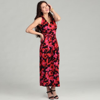 Vince Camuto Women's Island Floral Cutout Halter Maxi Dress