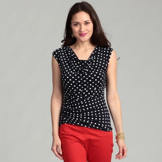 Vince Camuto Women's Blue Polka-dot Top