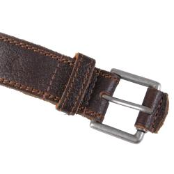 Joseph Abboud Men's Topstitched Genuine Saddle Leather Belt