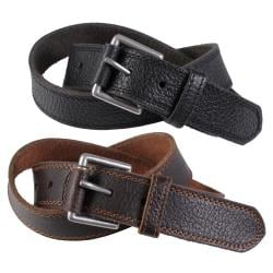Joseph Abboud Men's Topstitched Genuine Saddle Leather Belt