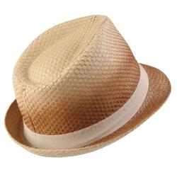 Journee Collection Women's Basketweave Bow Accent Fedora Hat