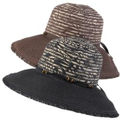 Hailey Jeans Co. Women's Fringe Edge Bead Detail Sunhat