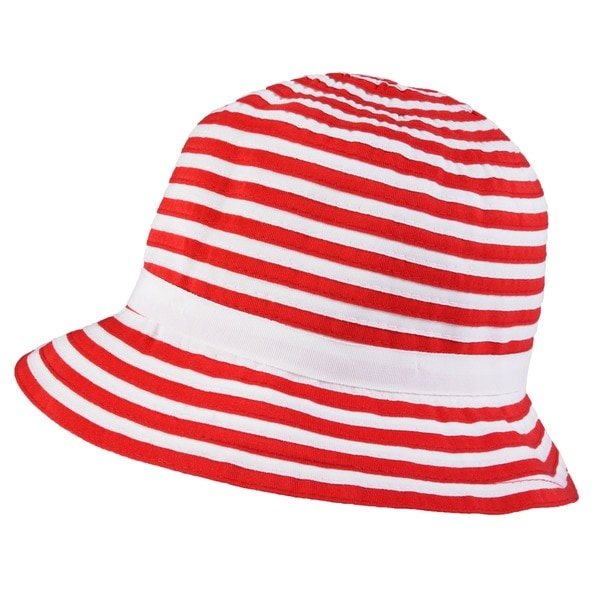 Hailey Jeans Co. Women's Ribbon Accent Striped Bucket Hat