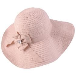 Hailey Jeans Co. Women's Ribbon Accent Wide Brim Sunhat