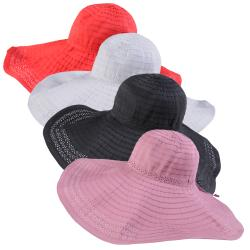Journee Collection Women's Eyelet Trim Ribbon Sunhat